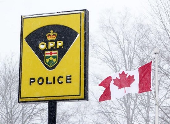 OPP sign in snow