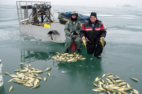 Ice fishing on Mitchell's Bay. (Photo courtesy of ontariosouthwest.com)