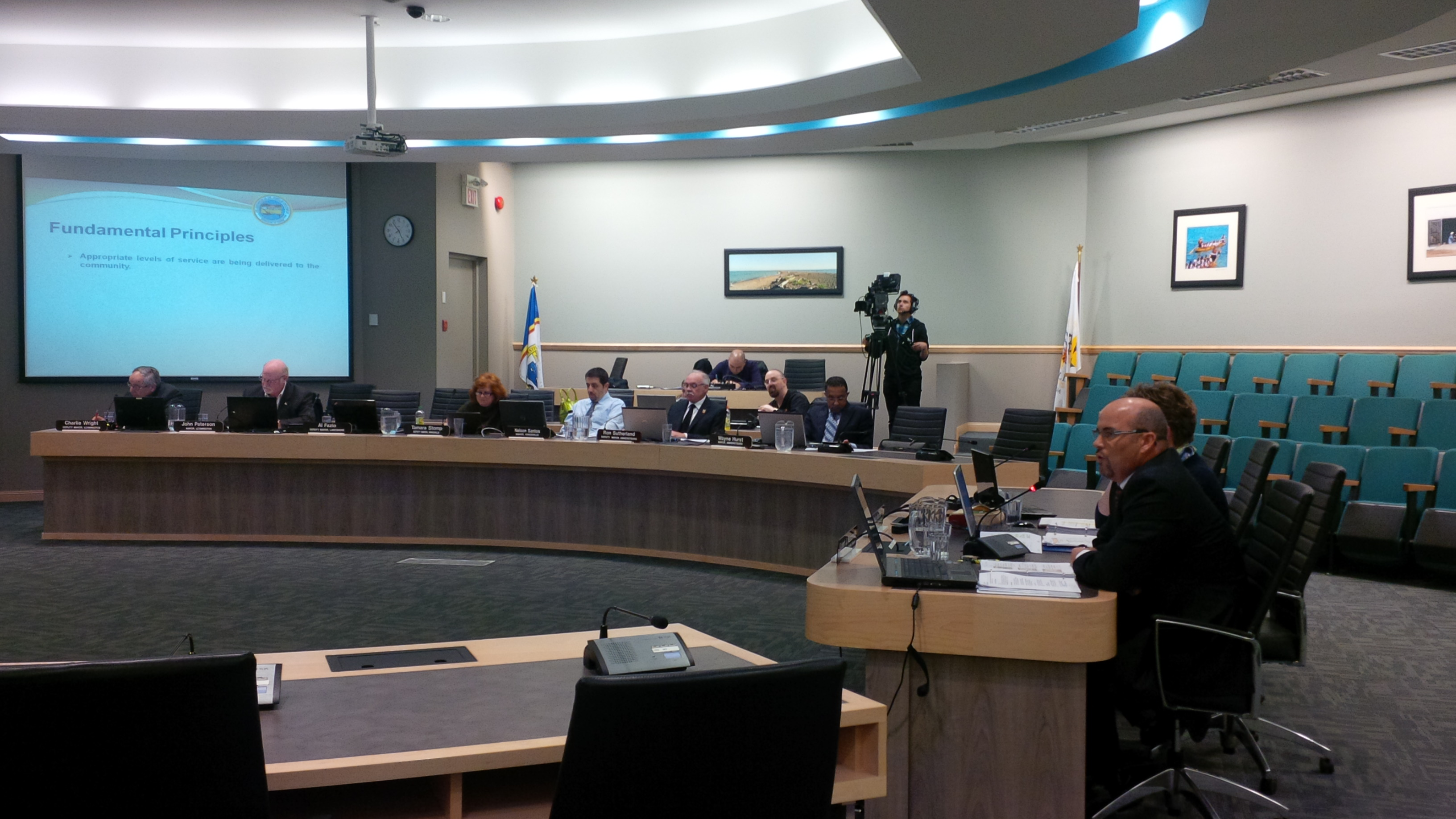 County of Essex Director of Corporate Services and Treasurer Rob Maisonville presents 2014 budget to County of Essex Council on February 19, 2014. (Ricardo Veneza)