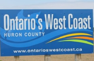 Ontario's West Coast - Huron County sign