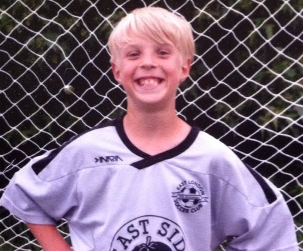 Tyler Brooks in his soccer uniform