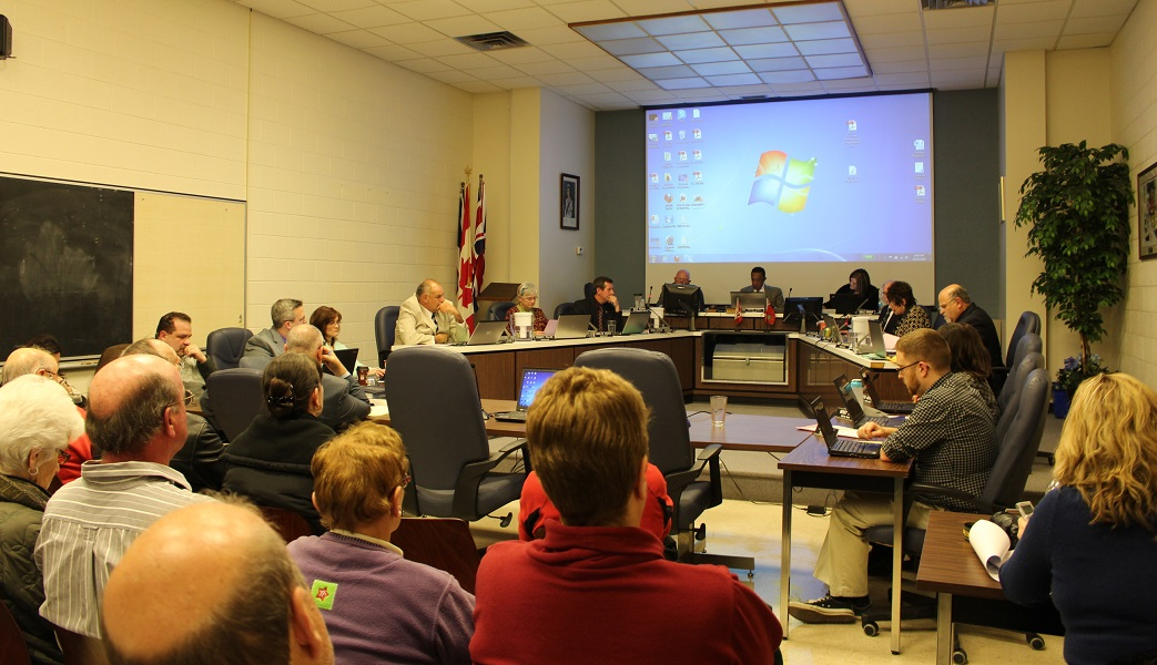 Amherstburg Town Council meeting March 24, 2014. (Photo by Maureen Revait)