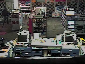 Security camera picture taken during break in. (Photo supplied by CKPS)
