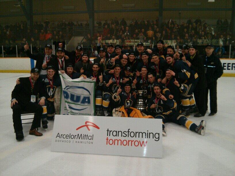Windsor Lancers win Queen's Cup, March 15, 2014. (Photo courtesy of OUA via Twitter)