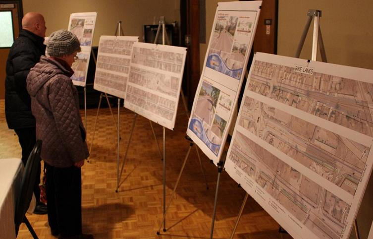 Residents attend a public meeting about renovations on Cabana Rd. in Windsor, March 27, 2014.
