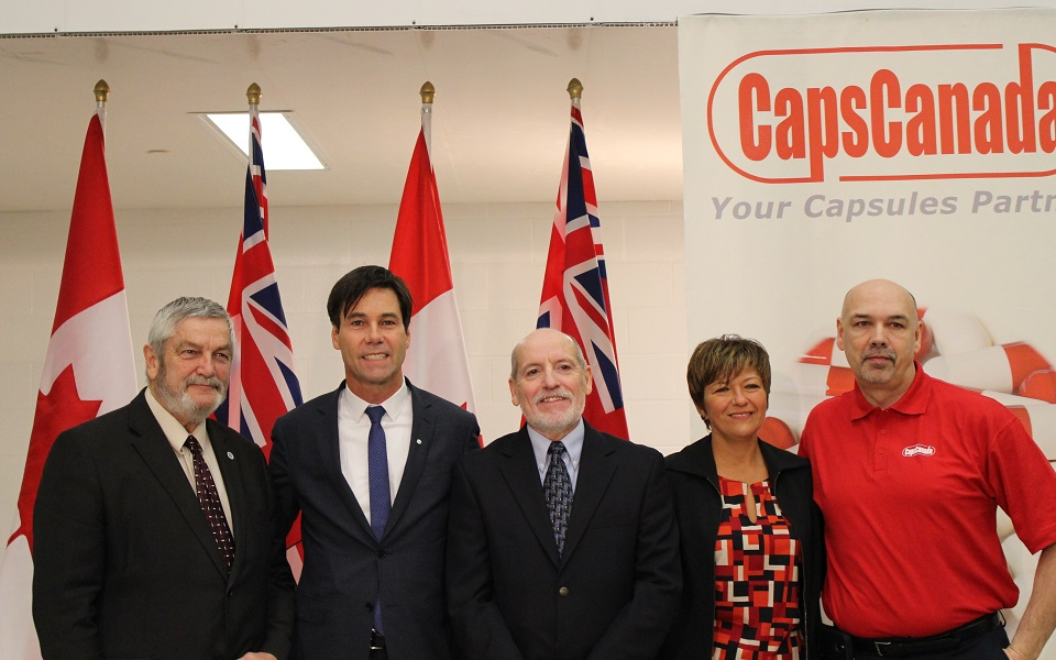 The Caps Canada Corporation receiving $1.5-million grant from the Southwestern Ontario Development Fund.