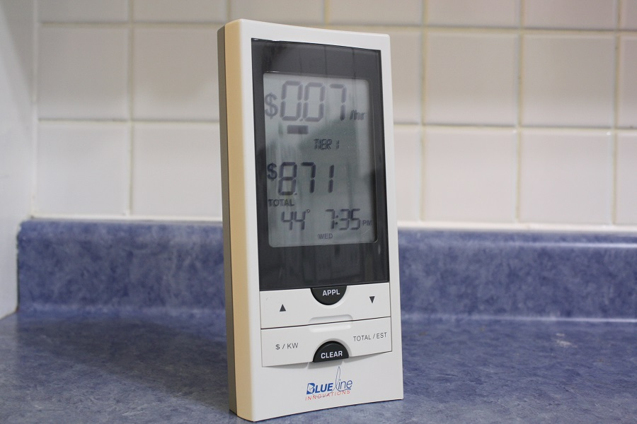Blue Line Innovations home energy monitor.