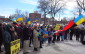 Windsor's Ukrainian community hold a rally at Lanspeary Park on March 9, 2014. (Ricardo Veneza.)