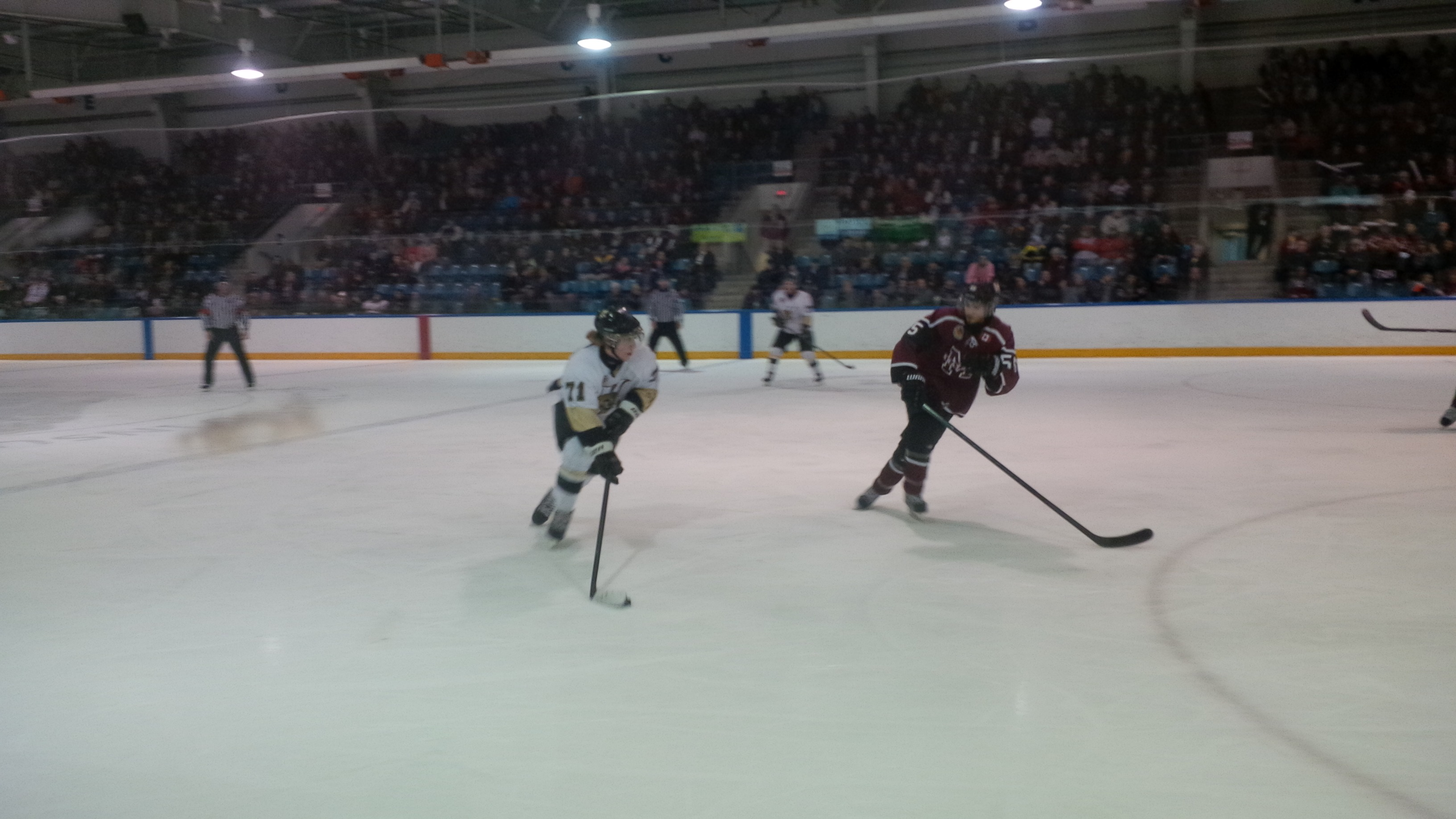 The LaSalle Vipers and the Chatham Maroons play in Game 3 of their GOJHL playoff series at the Vollmer Complex in LaSalle on March 16, 2014. (Ricardo Veneza)