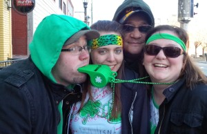Partiers celebrate St. Patrick's Day in Windsor at the Olde Sandwich Towne street party.