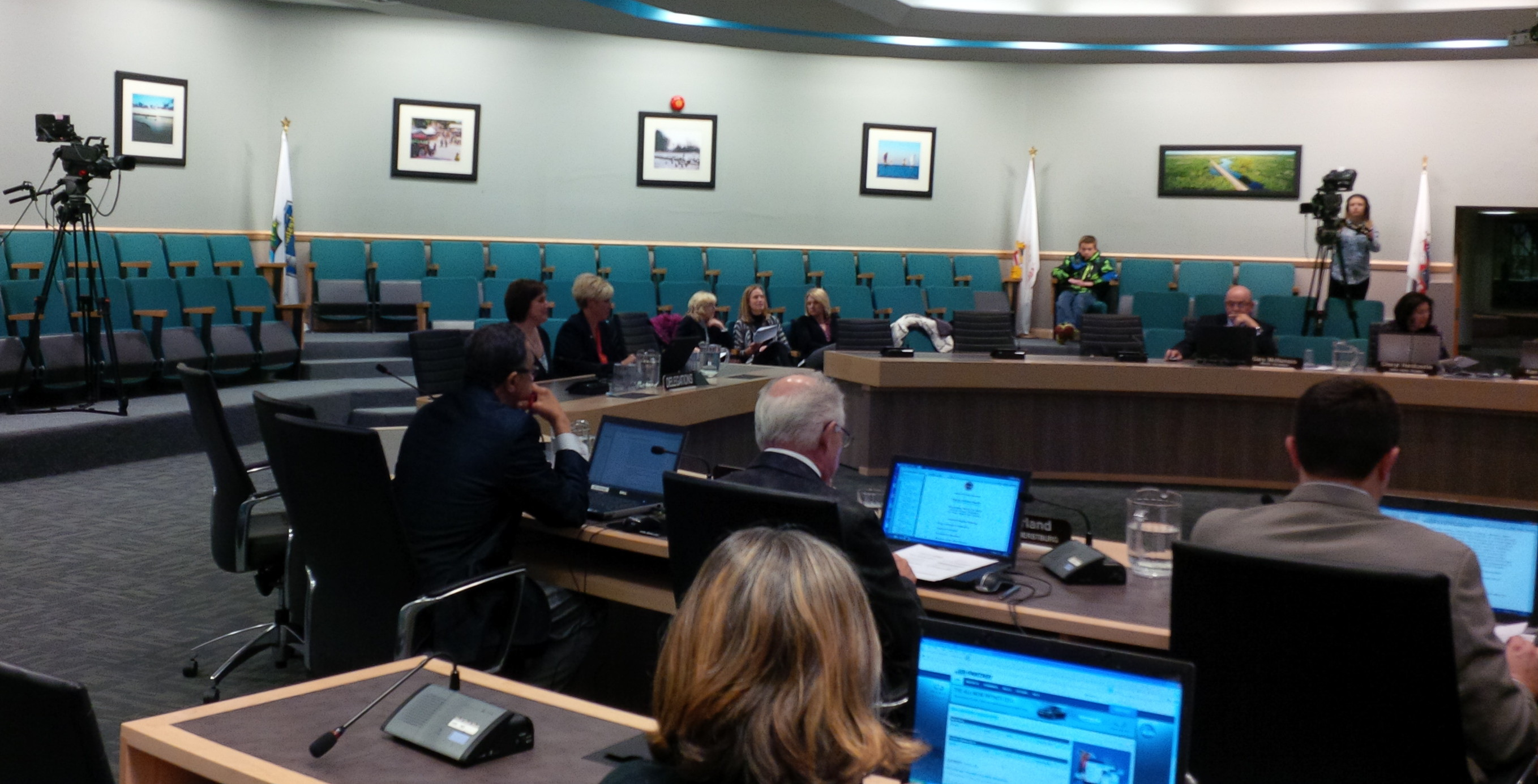 Members of the Windsor-Essex Local Immigration Partnership present to county council on Marhc 19, 2014. (Ricardo Veneza)