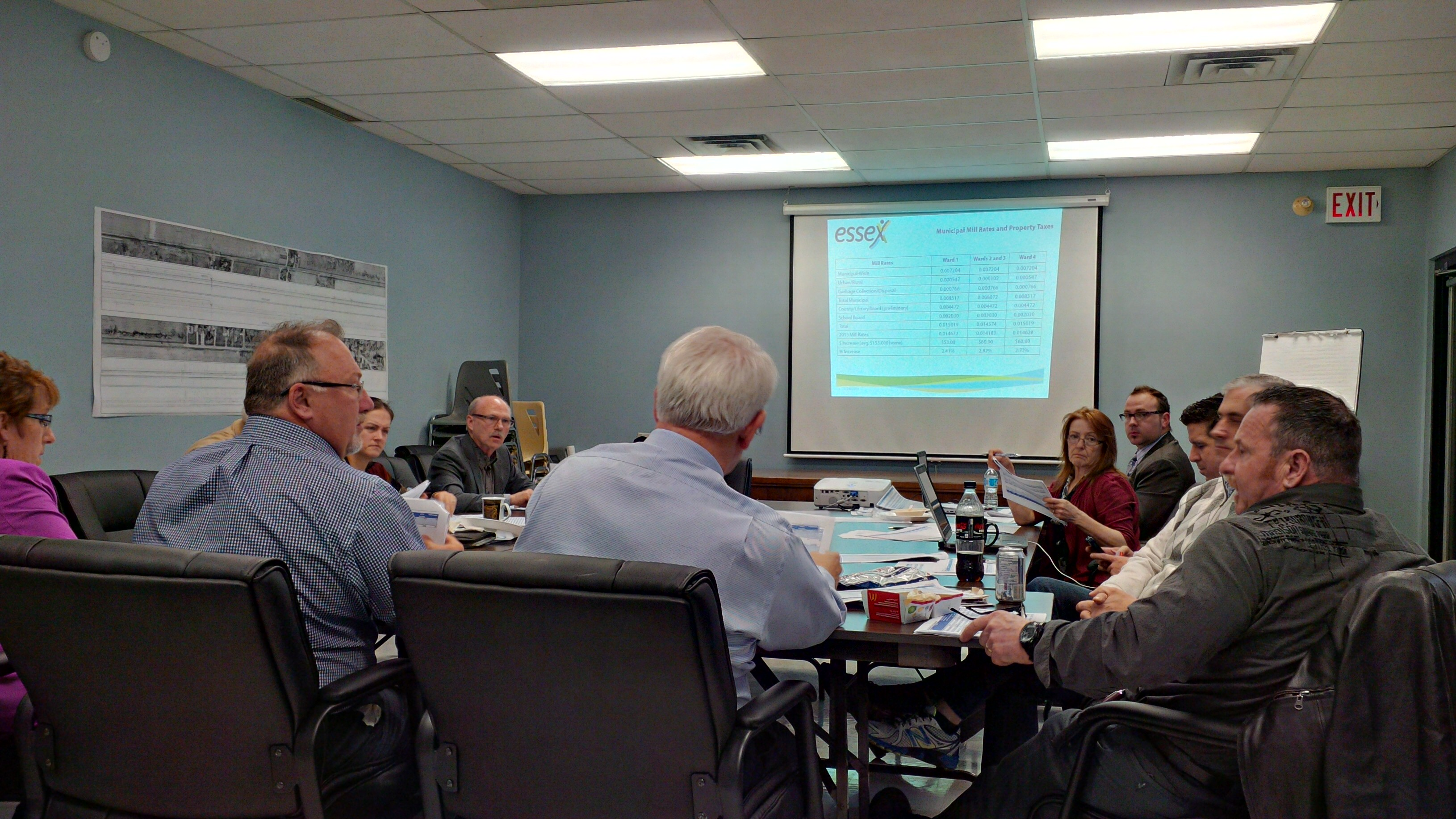 Town of Essex Council meets for budget talks, March 24, 2014. (Photo by Ricardo Veneza)