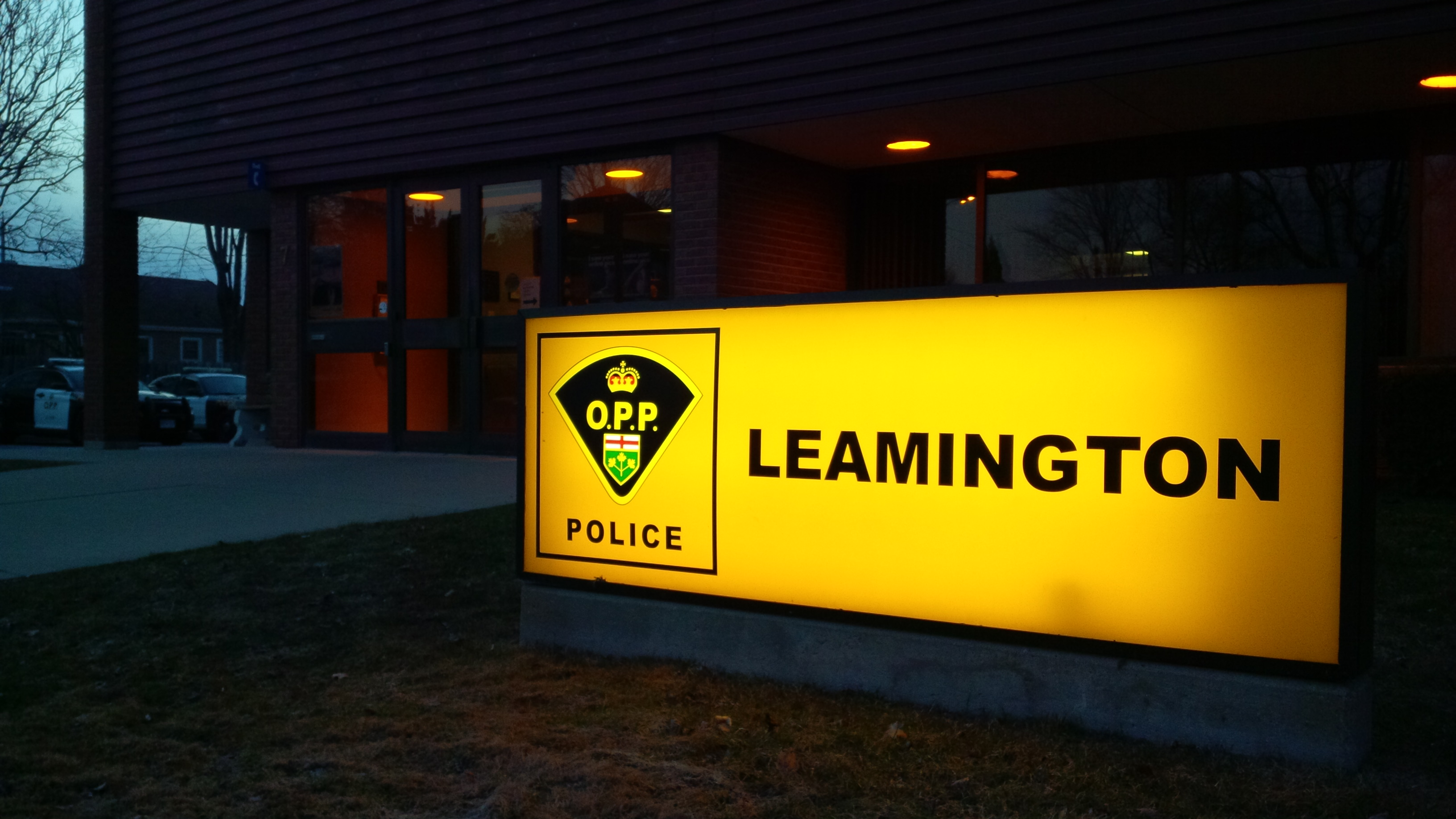 Leamington OPP Station.(BlackburnNews.com file photo)