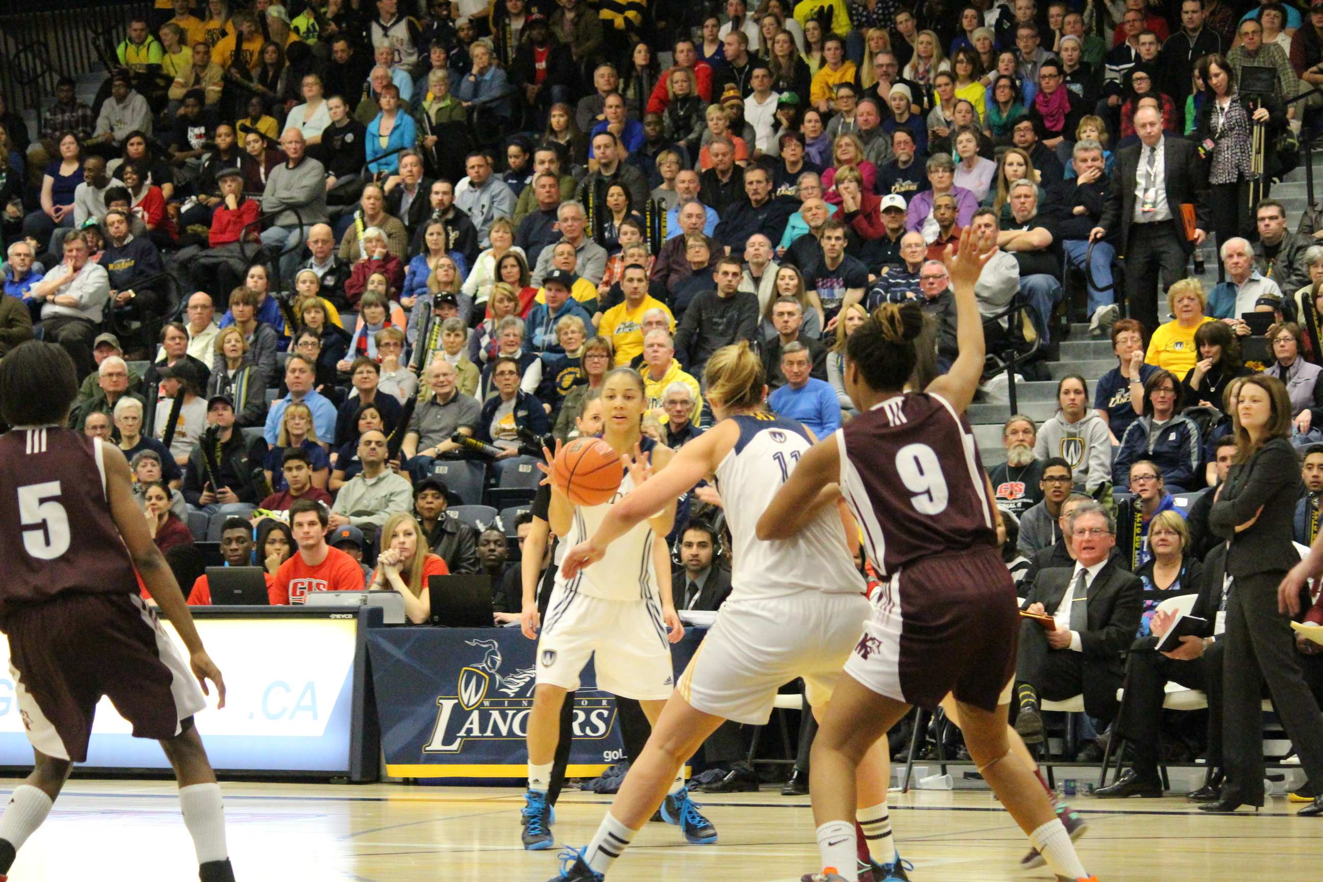 The Windsor Lancers women's basketball team captured its fourth consecutive CIS championship at the St. Denis Centre on March 16, 2014. (Ricardo Veneza)
