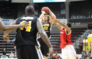 The Windsor Express take on the London Lightning at the WFCU Centre in Game 5 of their NBL Canada Conference Final on March 26, 2014. (Photo by Ricardo Veneza)