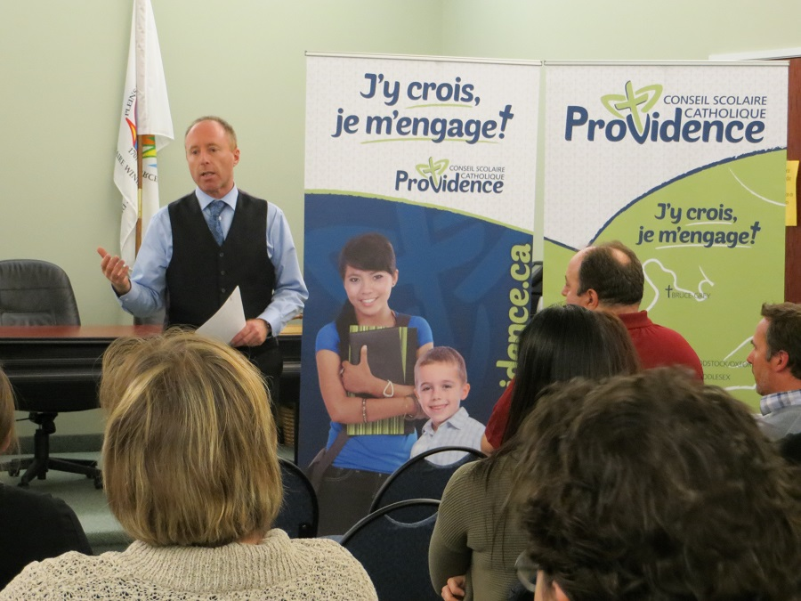 Joseph Picard, the Director of Education for the French Catholic board, Conseil scolaire catholique Providence.