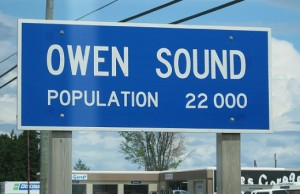 Owen Sound population sign