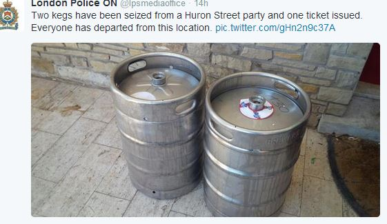 Kegs From a House Party on