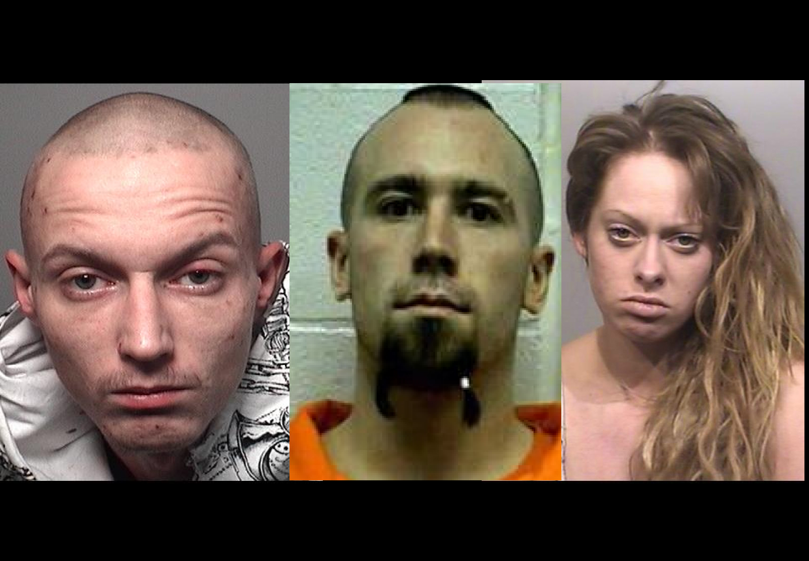 Perth County OPP has issued warrants for Daniel Battye, Mathew Drumond, and Cacie Dawson following a home invasion in Listowel. (Photos courtesy of Perth County OPP)