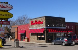 Park Ave. Chatham location of Tim Hortons. March 30th 2014. (Photo by Trevor Thompson)