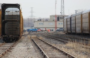 Windsor Rail Yard, March 25, 2014.