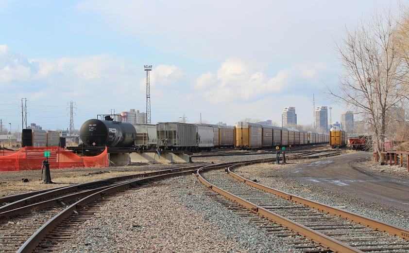 Windsor Rail Yard, March 25, 2014. (photo by Mike Vlasveld)