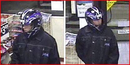 A photo of a suspect in an armed robbery March 19, 2014 courtesy of WPS.