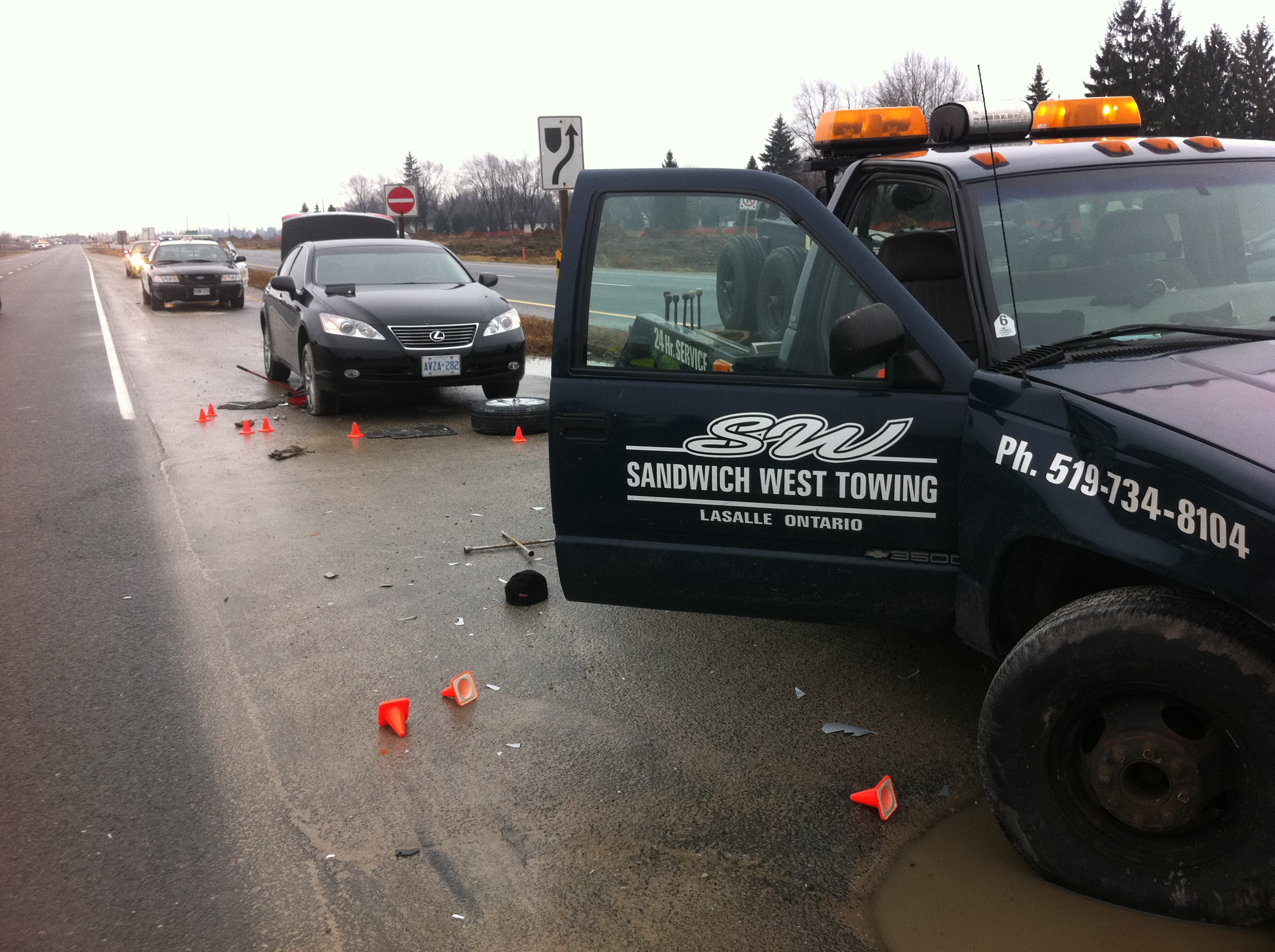 BlackburnNews.com file photo of a fatal accident on Hwy.3 involving a tow truck and a car January 17, 2012.