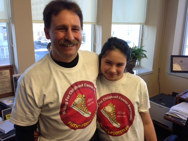 Dave and Faith Abbey announce plans for a walk from London to Sarnia to raise childhood cancer awareness. BlackburnNews.com (Photo by Melanie Irwin)