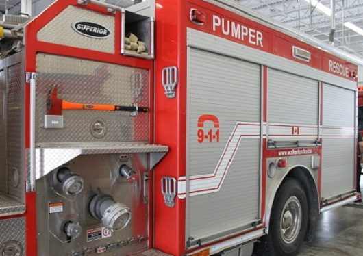 Fire truck pumper