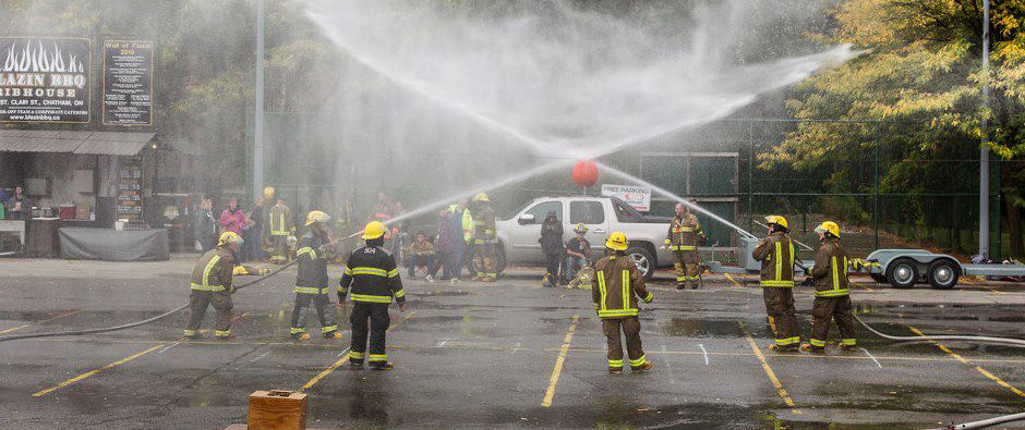 Firefighters at FireFest 2013 in Chatham-Kent. Photo courtesy of firefest.ca