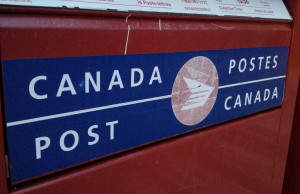 Canada Post bins outside of the branch in Essex, Ontario. Photo taken April 22, 2014. (BlackburnNews.com file photo)