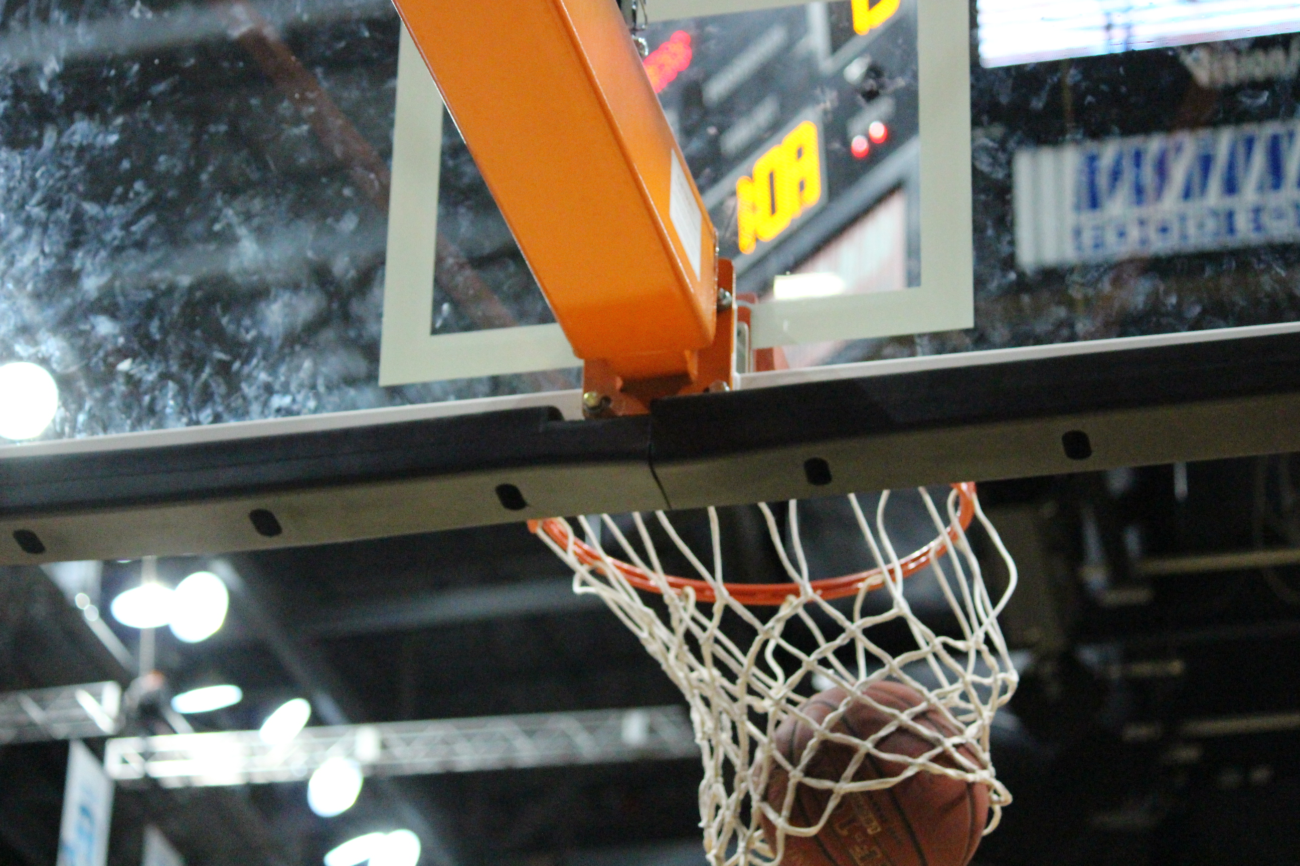 Basketball net at the WFCU Centre (BlackburnNews.com file photo)