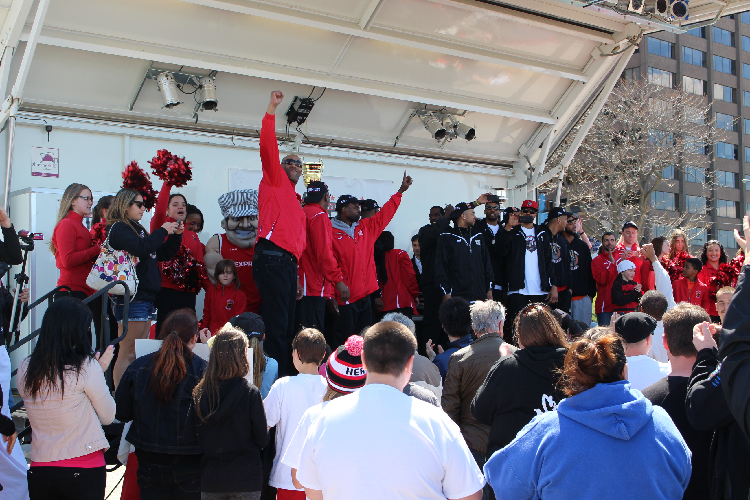 The Windsor Express NBL Canada Championship Parade on April 26, 2014. (Photo by Ricardo Veneza)