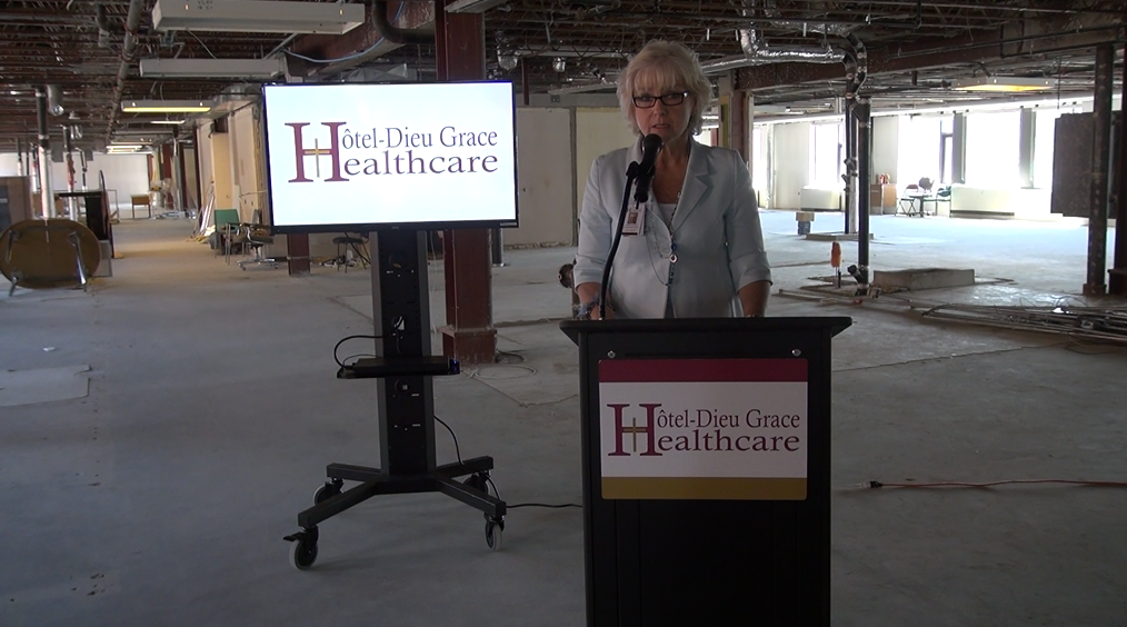 Janice Kaffer, VP of Clinical Operations and Chief Nursing Executive Hotel-Dieu April 22. (Photo by Trevor Thompson)