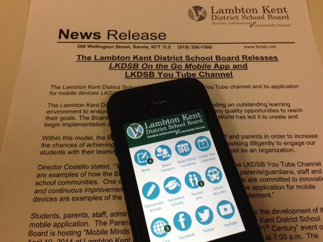 LKDSB Launches Mobile App April 9, 2014 BlackburnNews.com