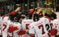 The Leamington Flyers celebrating a win over the Chatham Maroons, April 4 2014.