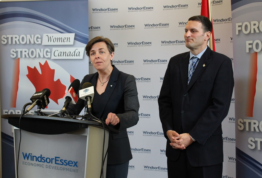 Minister Dr. Kellie Leitch and MP Jeff Watson put out a call for proposals to help women entrepreneurs.