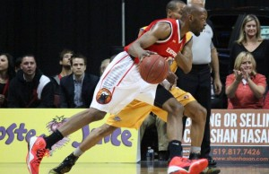 The Windsor Express take on the Island Storm in game six of the NBL Canada finals. April 15, 2014.