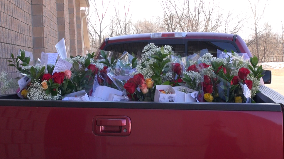 Roses set to be delivered for the Chatham Sunrise Rotary. April 2nd 2014 (Photo by Trevor Thompson)