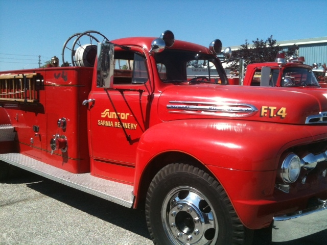 Antique Suncor Sarnia Refinery fire truck. BlackburnNews.com File Photo (Photo By Melanie Irwin)