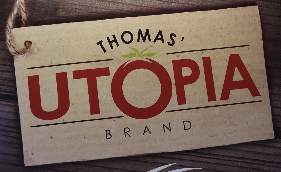 Thomas Canning Uptopia Brand logo. (Photo by Mike Vlasveld)