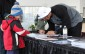 Dallas Cowboys DE Tyrone Crawford signs autographs at Overseas Motors Mercedes-Benz in Windsor, April 4, 2014.