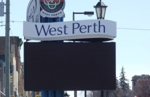 West Perth sign