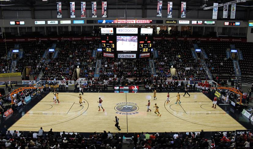 The Windsor Express host the Island Storm at the WFCU Centre for game seven of the NBL Canada Championship 2014. (photo by Mike Vlasveld)