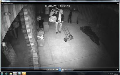 Security camera picture of theft. (Photo released by CK-Police)