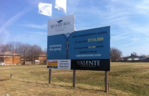 Site of the future Valente condominium project in the 8400-block of Wyandotte St. E.