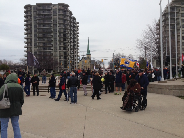 A ceremony is held in Sarnia to mark the Day of mourning. April 28, 2014 BlackburnNews.com (Photo by Melanie Irwin)