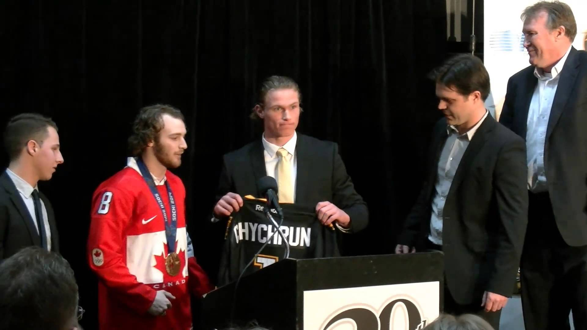 The Sting selects Jakob Chychrun first overall in the OHL Priority Selection Apr. 4, 2014.