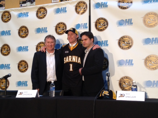 Sarnia Sting selects Jakob Chychrun with the first pick in the OHL Draft (Fri, Apr.4/14) BlackburnNews.com